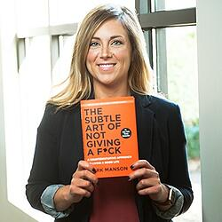 Emily Shaw, sales consultant and trainer at Lushin Inc, on the book The Subtle Art of Not Giving a Fck